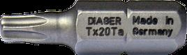 Біта зіркова TORX з отвіром 10 25мм Diager