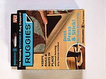 Уголки-липучки, держатель для ковров Ruggies, 4 резиновых уголка и 4 бумажных уголка., фото 2