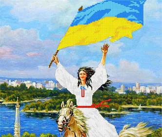 Схема для вышивания бисером Украинка БИС3-160 (А3)
