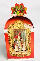 Сундук новогодний Святой Николай, Картонная упаковка для конфет, 18х11х11 см