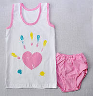 Комплект для девочек майка + трусы 204 Н