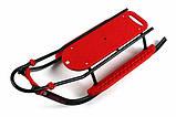 Санки со спинкой  PICCOLINO Black Edition Adbor (Польша), красный, фото 9