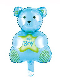 "Мини шарик ""Мишка It,s Boy"". Размер: 27см*47см. Пр-во:Китай."