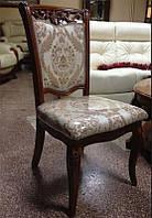 Cтул Classic 8050, классический стул с мягкой спинкой и сиденьем, резная спинка и ноги
