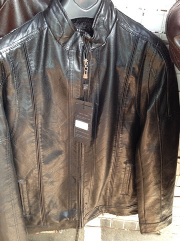Модная мужская куртка из Эко кожи черная