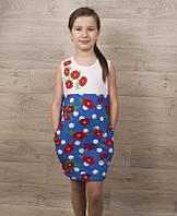 Платье детское Маки 15674