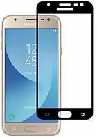 Защитное стекло Full screen Samsung J330 (J3-2017) (Black), фото 1