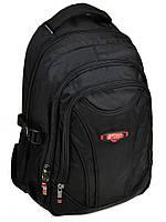 Черный школьный текстильный рюкзак 924 black, фото 1
