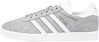 Женские кроссовки Adidas Gazelle Mid Grey/Ftwr White/Gold Metallic (Адидас Газели) серые
