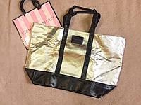 Стильная дорожная сумка от Виктории Сикрет Victoria's Secret металик