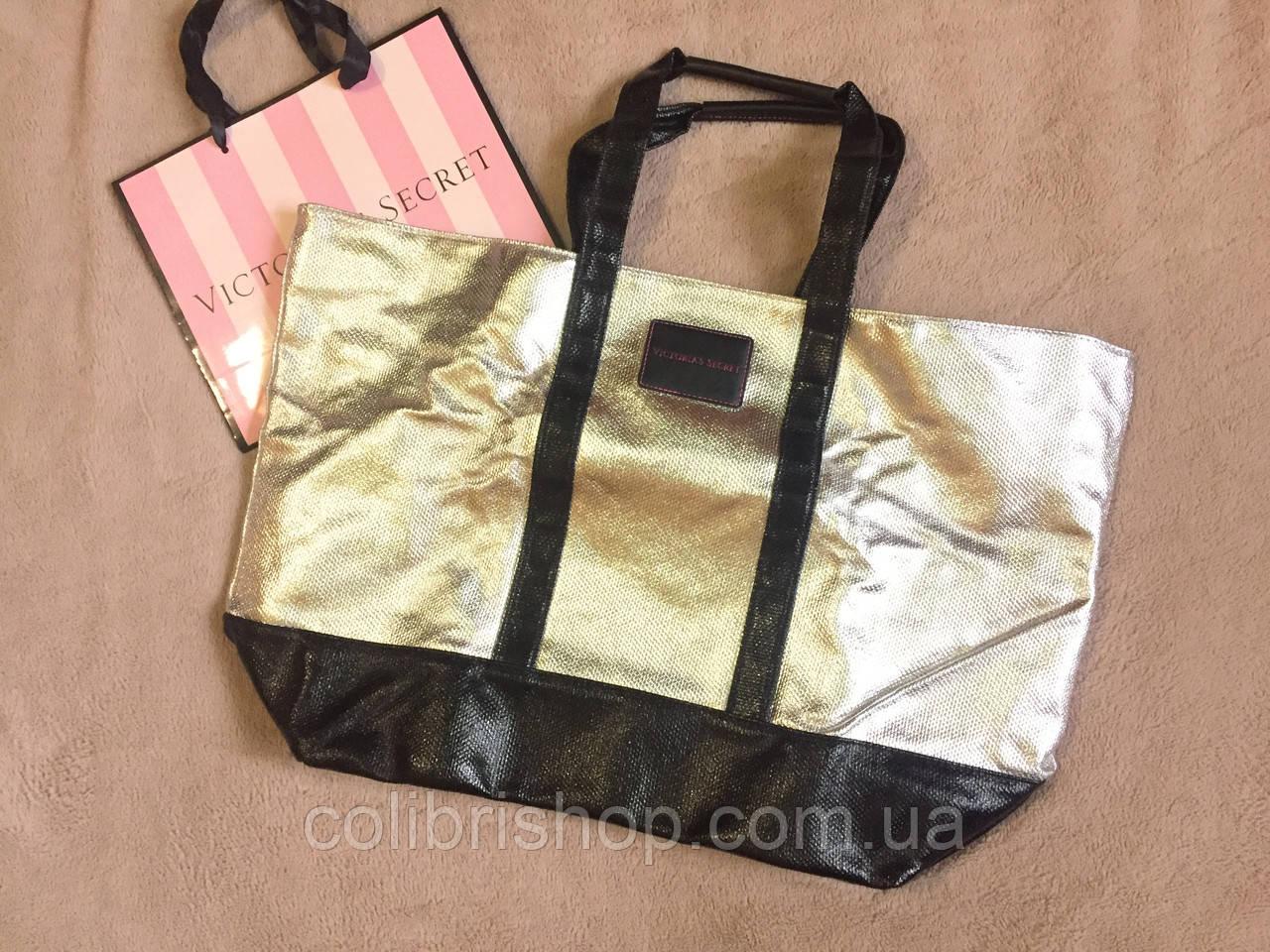 08857dab32b2b Стильная дорожная сумка от Виктории Сикрет Victoria's Secret металик, ...