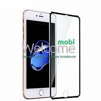 Защитное стекло iPhone 7 (0.3 мм, 3D c алюминиевой рамкой) black