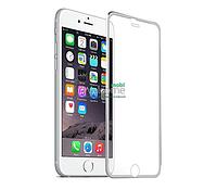 Защитное стекло iPhone 7 (0.3 мм, 3D c алюминиевой рамкой) silver