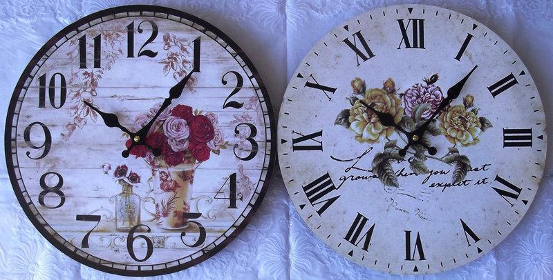 Часы настенные R*L Розы  для дома и офиса RL-338-4