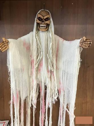 Череп музыкальный декор на хэллоуин halloween Мумия призрак 1.5м х 1м, фото 2