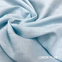 Нежно голубая льняная ткань 100% лен, цвет 901
