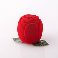 Футляр подарочный  для кольца красный бархат Роза 12шт/уп.