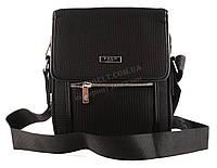 Очень прочная тканевая мужская небольшая наплечная сумка POLO art. 665-3 черная, фото 1