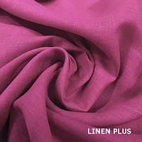 Пурпурная льняная ткань 100% лен, цвет 903
