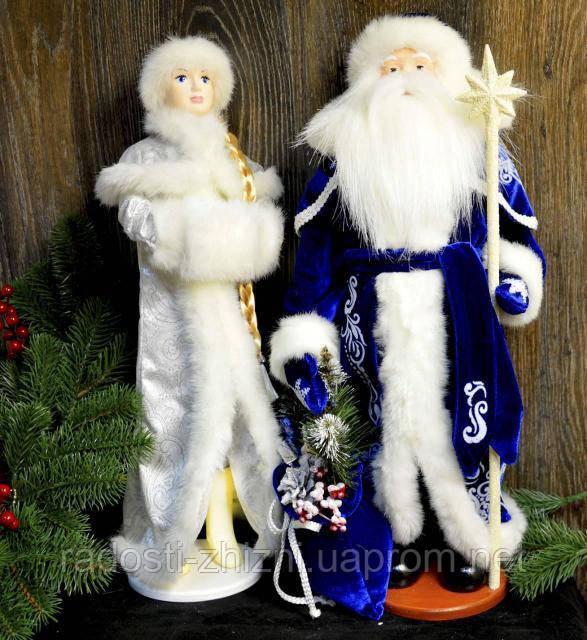 Набор Дед Мороз и Снегурочка украшения под елку 50-53 см