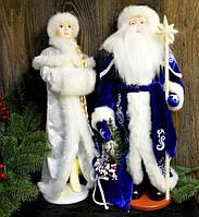 Набор Дед Мороз и Снегурочка украшения под елку 50-53 см, фото 1