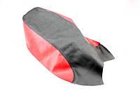 Чехол сиденья (эластичный, прочный материал) черный/красный на мотоцикл VIPER -125-J