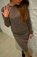 Костюм женский с юбкой , ангора софт карамель !, фото 1