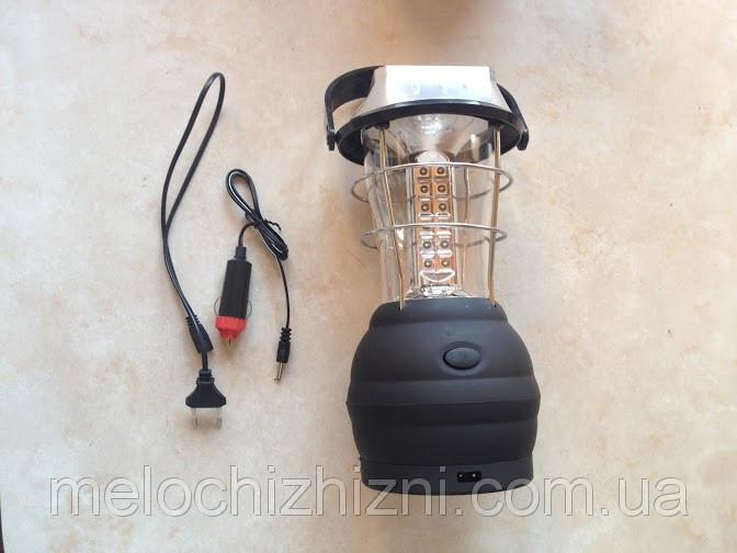 Фонарь кемпинговый светодиодный +На солнечной батарее! (Арт. 90876)
