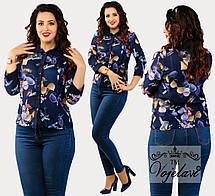Женская рубашка на пуговицах, цвета в ассортименте 48.52.54, фото 3