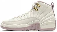 """Женские кроссовки Air Jordan 12 Retro Hi Premium GG """"Heiress Collection"""" (Аир Джордан Ретро) белые"""