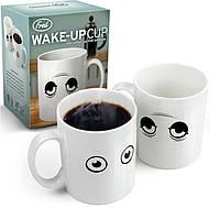 Прикольный Подарок Чашка Сонные Глазки Сувенир Термочашка Wake Up