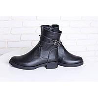 Чорні зимові черевики на хутрі
