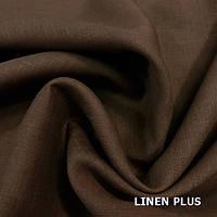 Льняная ткань охра, цвет 1158