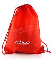 Спортивный мужской рюкзак для сменки WALLABY art.  2825 красный, фото 1