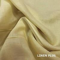 Желтая льняная ткань 100% лен, цвет 1391