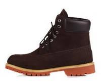Зимние ботинки МУЖСКИЕ с мехом Timberland 6 Inch Brown (иск мех)