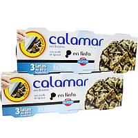 Кальмар Hacendado Calamar en salsa tinta (в чернилах каракатицы) 80г