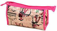 Женская розовая косметичка из эко-кожи CR308-4