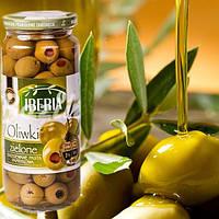 Оливки IBERIA zielone z pasta papricowa 340г