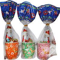 Подарок новогодний (шоколадные игрушки+чайная чашка) 100г