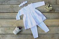 Набор крестильной одежды с повязкой для девочки Белоснежка НБ50