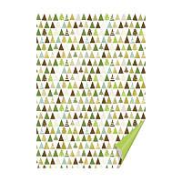 """Бумага с рисунком """"Елки"""", двусторонняя, зеленая, 21*29,7 см, 300 г/м2, Heyda, 204771836"""