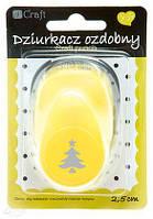 """Фигурный дырокол """"Елка"""", 2,5 см, Dalprint, JCDZ-110-137, 9110137"""