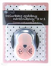 Кутовий діркопробивач 3 в 1 Візерунки № 1, 2,5 см Dalprint, JCDZ-211-001, 9211001