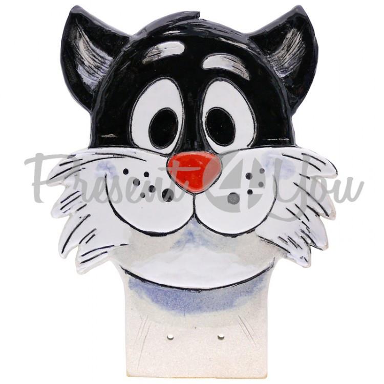 Фигура декор для забора «Кот» h-26 см.