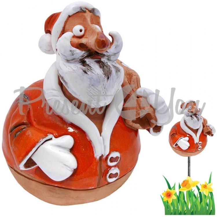 Фигура декор для сада «Санта-Клаус» h-17 см.