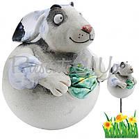 Фигура декор для сада «Кролик с капустой» h-17 см.