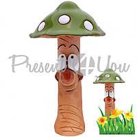 Фигура декор для сада «Гриб зеленый» h-24 см.