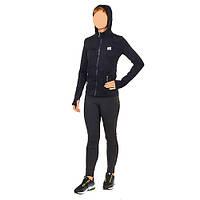 Толстовка женская быстросохнущая для йоги, зала и бега VSX CO-6478-BK
