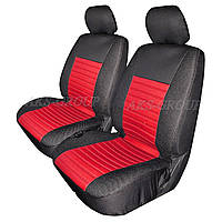 Авточехлы с подогревом Milex Arctic на передние сидения черно-красные